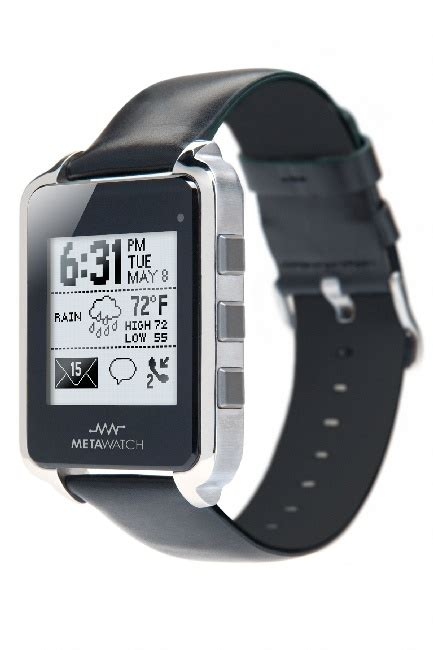 smartwatch iphone compatible metawatch launches iphone compatible bluetooth 4 0