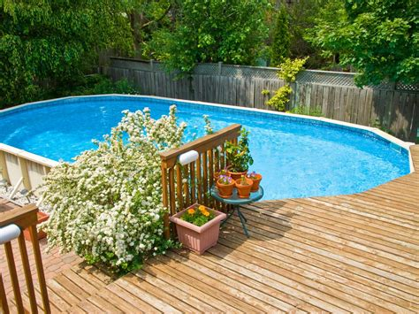above ground pool deck pictures in ground vs above ground pools hgtv