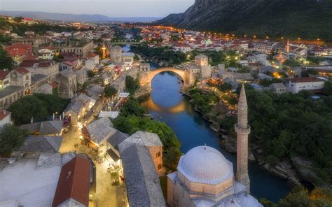 Bosnia And Herzegovina Old Bridge Mostar 4k Ultra Hd