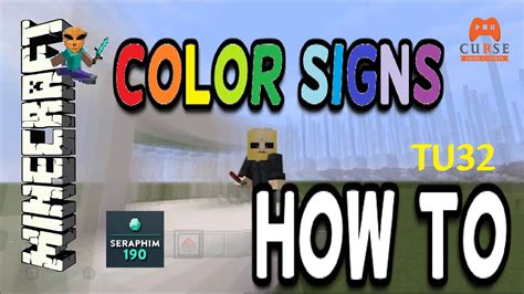 how to make colored signs in minecraft how to make colored signs in minecraft ps4 tu32 ep 479