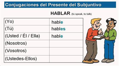 present subjunctive part  conjugating ar er ir