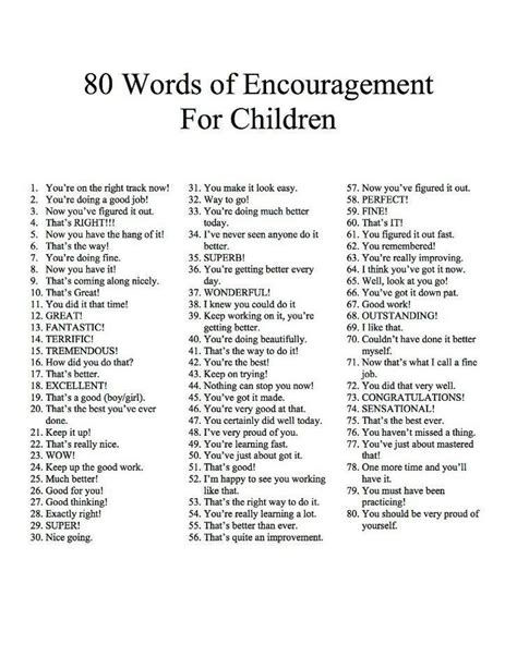 during the preschool years parents should praise children best 25 encouraging words for ideas on 481