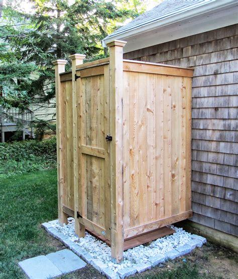 Outdoor Shower Enclosure  Cedar Showers
