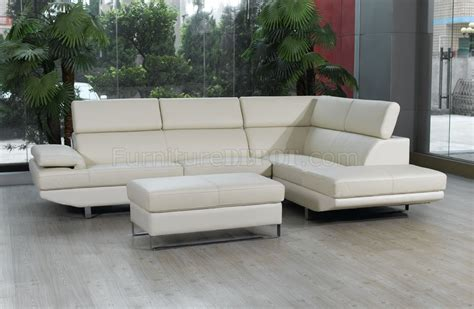 best modern sectional sofa off white top grain full leather modern sectional sofa