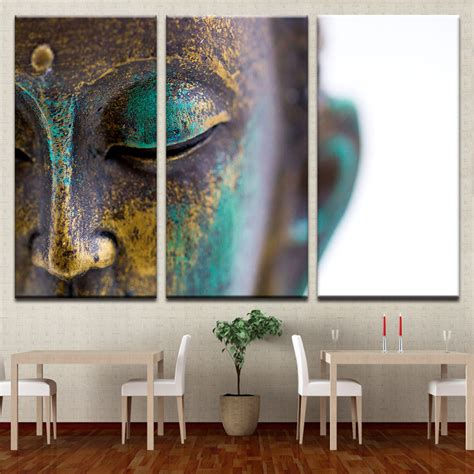 home decor wall canvas paintings wall home decor 3 pieces buddha
