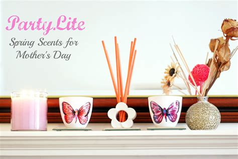 partylite candles spring scents  mothers day