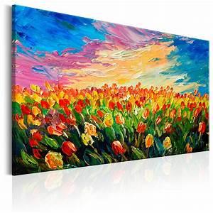 Leinwand Xxl Kaufen : leinwand bilder xxl kunstdruck bild tulpen wiese wie gemalt b b 0172 b a ebay ~ Whattoseeinmadrid.com Haus und Dekorationen