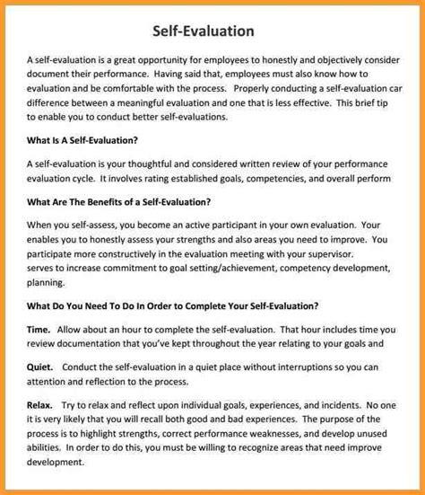 sample employee evaluations employee self evaluation sample child care employee self