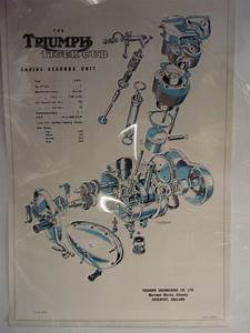 Bonhams   Four Triumph Tiger Cub Exploded Diagram Posters