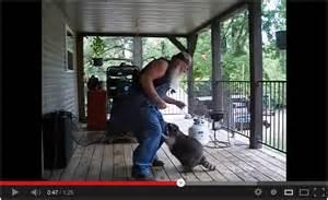 Man with Dancing Raccoon