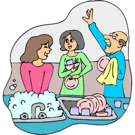 wash the dishes clipart washing dishes clipart