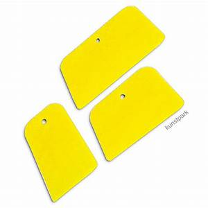 Acrylbinder Selber Machen : fl chenspachtel set 3 flexible kunststoffspachtel gelb ~ Yasmunasinghe.com Haus und Dekorationen