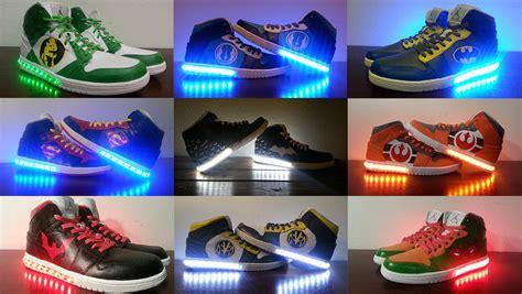 power ranger shoes light up men 39 s custom light up shoes
