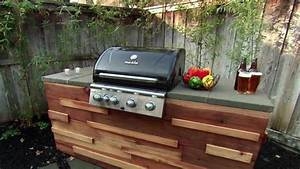 Redwood Barbecue Grill Island Video DIY