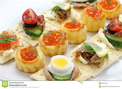 diy canapé assorted canape stock image image 33873621