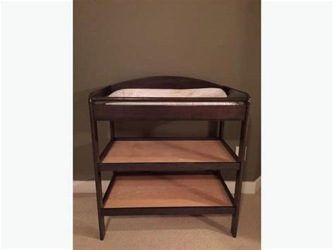 dark wood changing table brown wood change table saanich victoria