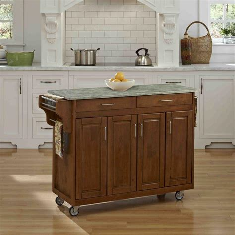 wood top kitchen island home styles create a cart warm oak kitchen cart with 1611