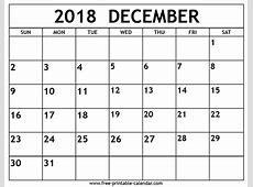 December 2018 Printable Calendar – printable calendar