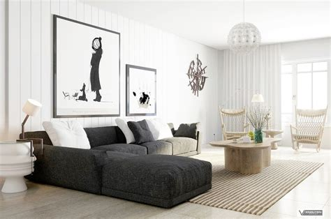 interesting grey sectional couch  living room furniture