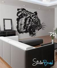 great tiger wall decals Vinyl Wall Decal Sticker Angry Tiger Growl #791