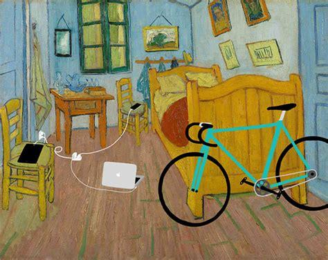 chambre de gogh des smartphones dans des classiques de la peinture