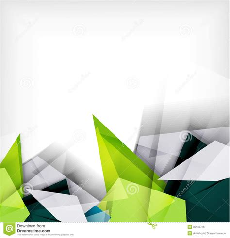 Abstract Geometric Shapes Background by Abstract Geometric Shape Background Stock Vector