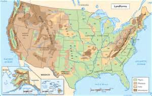 United States Landform Regions Map