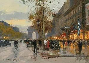 Peinture De Paris Poissy : ec champs elysees 7 paris peinture tableau en vente ~ Premium-room.com Idées de Décoration