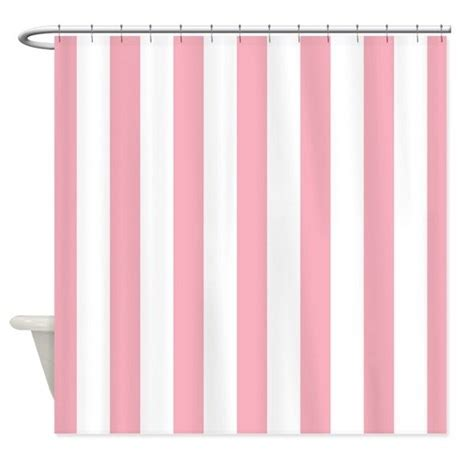 pink and white curtains pink and white striped shower curtain by mainstreethomewares