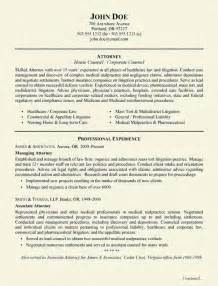 Lawyer Resume Template Sle Resume Attorney Resume Sle Lawyer Resume Objective Exles Resume Sle Attorney