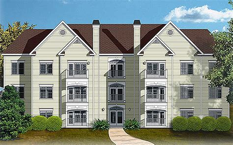 Appartment Plan by 12 Unit Apartment Building Plan 83120dc Architectural