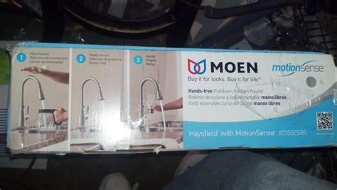 MOEN 87350ESRS Haysfield Pull Down Kitchen Faucet