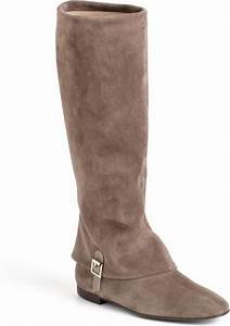 Delman June Tall Suede Riding Boots in Beige (taupe suede ...