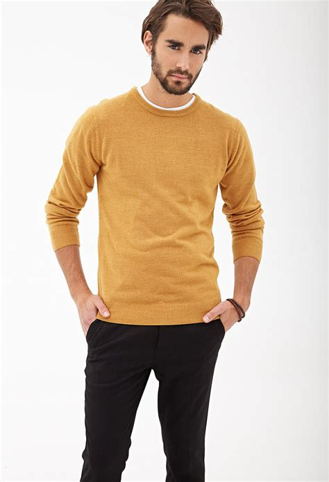 Lyst - Forever 21 Slouchy Crew Neck Sweater Youu0026#39;ve Been Added To The Waitlist in Orange for Men