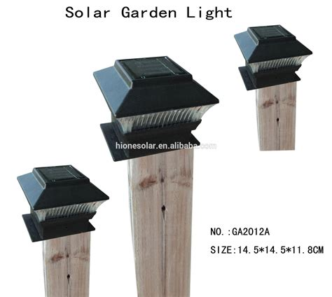 outdoor garden solar led post deck cap square solar fence