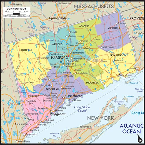 connecticut county map area county map regional city