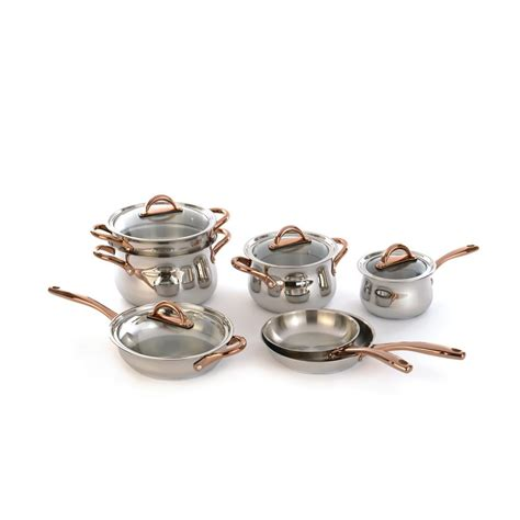 cuisinart professional series  piece stainless steel cookware set  lids    home depot