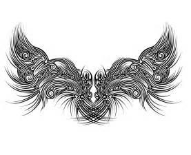 Tribal Angel Wings Tattoo Designs