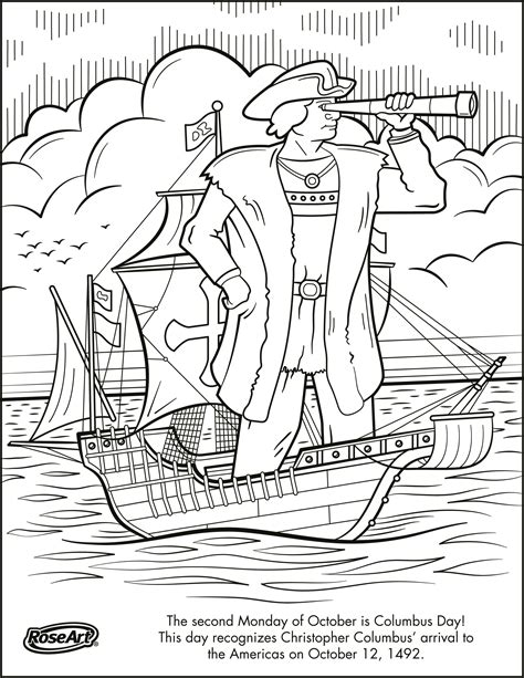 Christopher Columbus Coloring Pages Printable by Engage Younger With Columbus Day With Printable