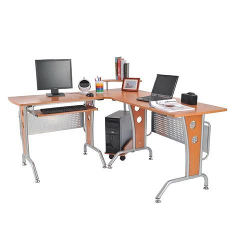 Amazon Com Homcom 61 In Modern L Shaped Office