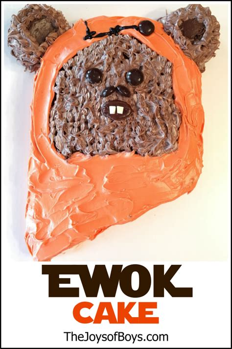 Ewok Cake: Easy Star Wars Birthday Cake   The Joys of Boys