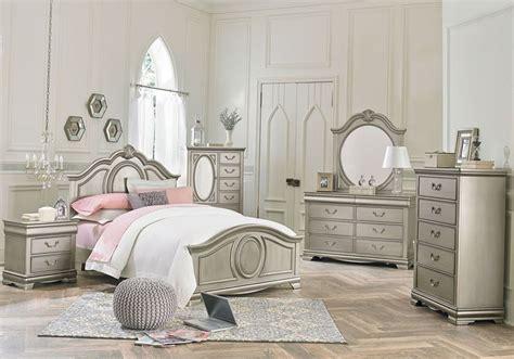 grace silver  pc twin bedroom kids beds silver