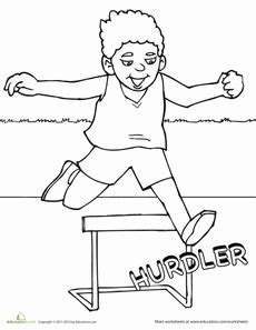 track  field coloring page kids activities track