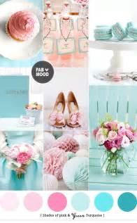 wedding color palette turquoise pink wedding colors palette