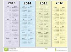 Calendars 2013 2016 Royalty Free Stock Images Image