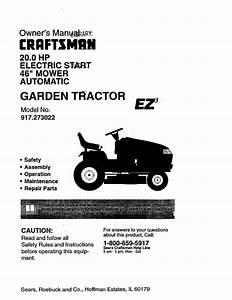 Sears Craftsman Garden Tractor Parts
