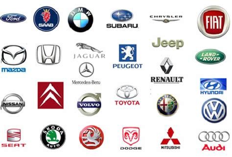 Vehicle Manufacturer Logos by 8 Best Photos Of Car Manufacturer Logos Icons All Cars