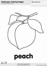 Peach Coloring Pages Simple Contains Super sketch template