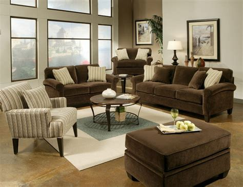 Brown Sofa Decorating Living Room Ideas by Brown Living Room Design 491 Home And Garden Photo
