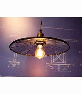 Suspension Ampoule Vintage : suspension suspension assiette a miroirs vintage style industriel pour ampoule filament edison ~ Dode.kayakingforconservation.com Idées de Décoration